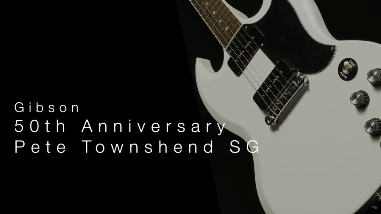 gibson 50th anniversary pete townshend sg wil with loop