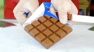 RITTER SPORT Fine Milk Chocolate bar ice cream rolls