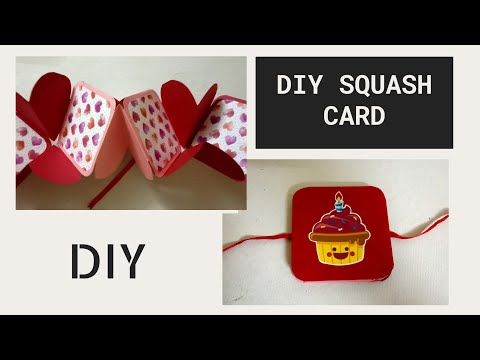 How to make squash card || Squash card || DIY Squash card