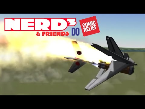 Scott Manley, Mike Bithell, and Nerd³ Play Kerbal Space Program - Comic Relief 2019