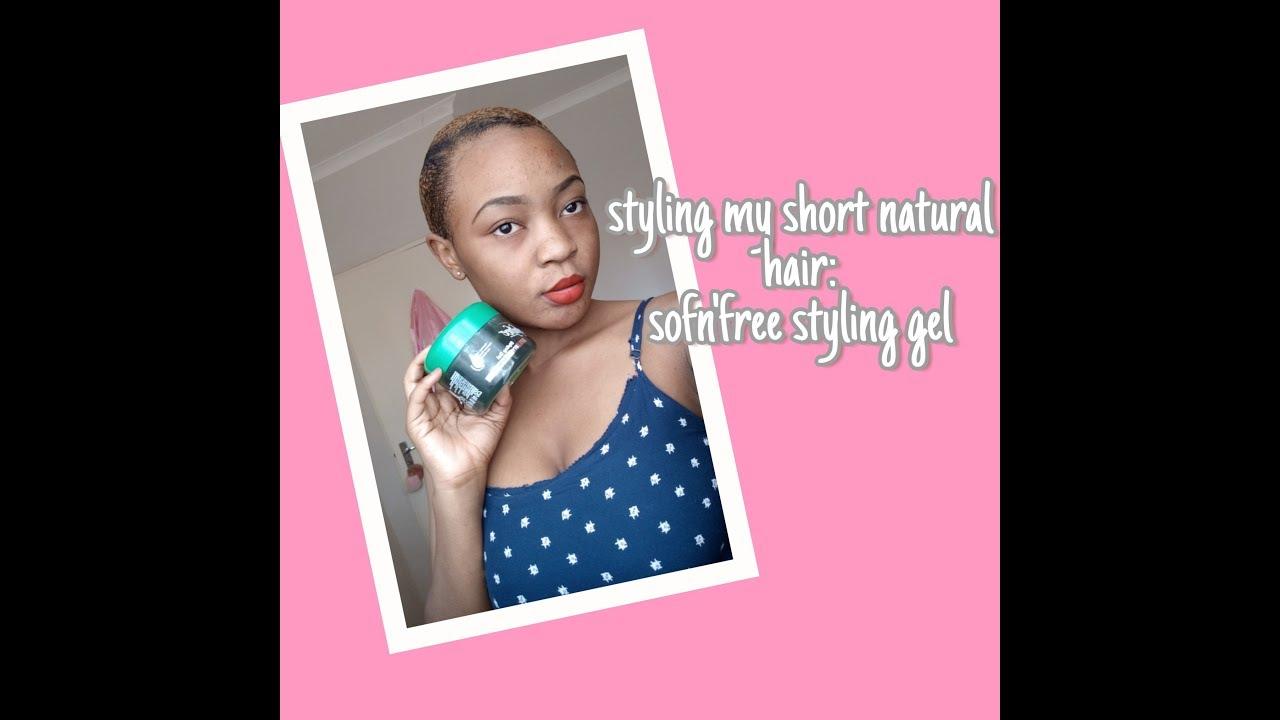 I Tried Doing My Own Hair Sofn Free Styling Gel Youtube