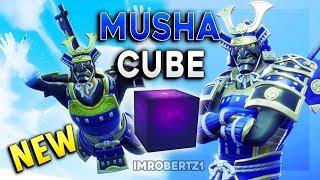 Fortnite Musha Skin Moving Cube Lightning Bolt Free Emote
