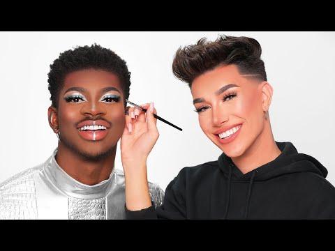 Doing Lil Nas X's Makeup!