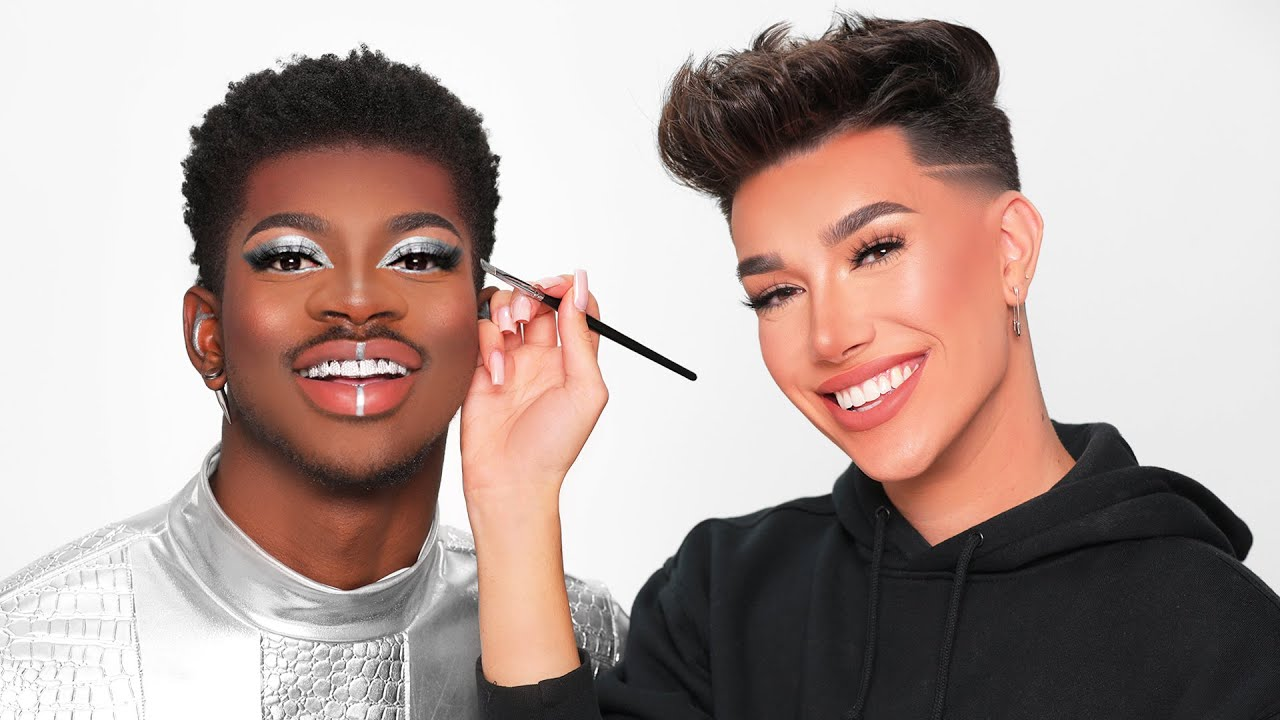 Doing Lil Nas X's Makeup!