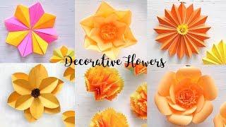 6 Flower Decor Ideas | DIY Paper Flower | Craft Videos