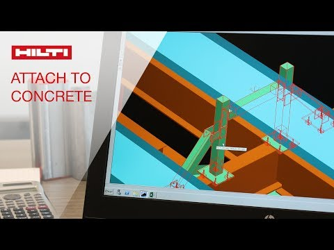 HOW TO attach support to concrete - Hilti Modular Supports Plug in for Smart Plant 3D