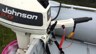 Silver Marine 3m Boat 8hp Johnson + Launch Wheels