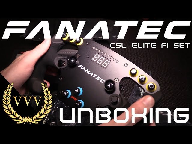 Fanatec CSL Elite F1 Set Unboxing