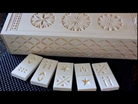 My chip carving domino set youtube