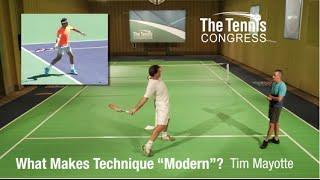 "What Makes Tennis Technique ""Modern""? Tim Mayotte at Tennis Congress 2015"