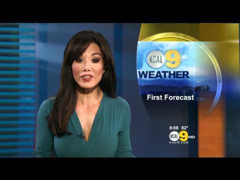 Sharon Tay 2011/08/01 8pm KCAL9 HD; Tight blue dress