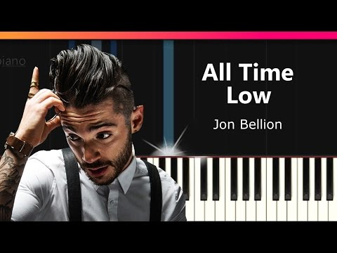 """Jon Bellion - """"All Time Low"""" Piano Tutorial - Chords - How To Play - Cover"""