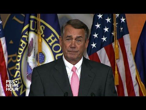 Watch John Boehner's full statement on his resignation