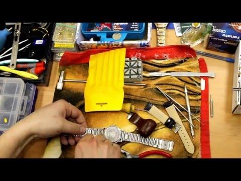 Ремонт часов : замена кожаного ремешка на металлический браслет