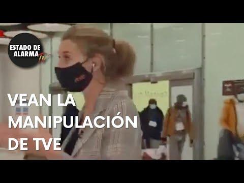El SECTARISMO de TVE les impide mostrar las imágenes de la INVASION migratoria en un aeropuerto.