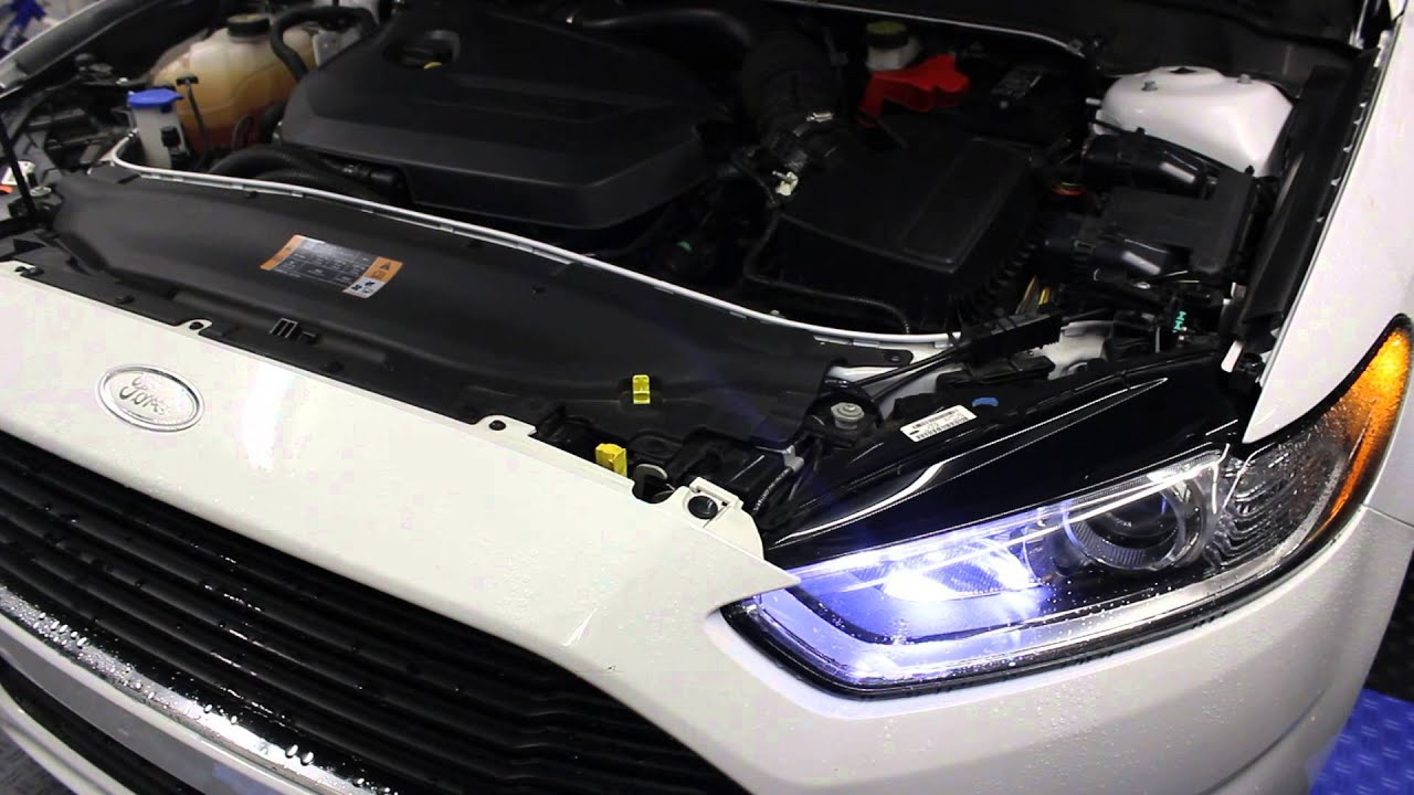 Ford Fusion Mods >> 2013 Ford Fusion 1.6L Ecoboost w/ K&N and air box mod - YouTube