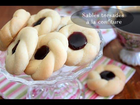 Biscuits Sablés torsadés à la confiture pour l'Aid 2017 sans moule