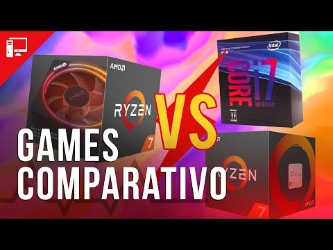 Comparativo em games: AMD Ryzen 7 2700x vs 1700x vs Intel Core i7
