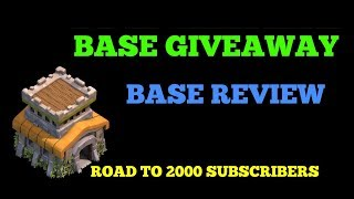 TH8 BASE GIVEAWAY 🎁|| CLASH OF CLANS INDIA🇮🇳 || ROAD TO 2000 SUBSCRIBERS🔥 ||