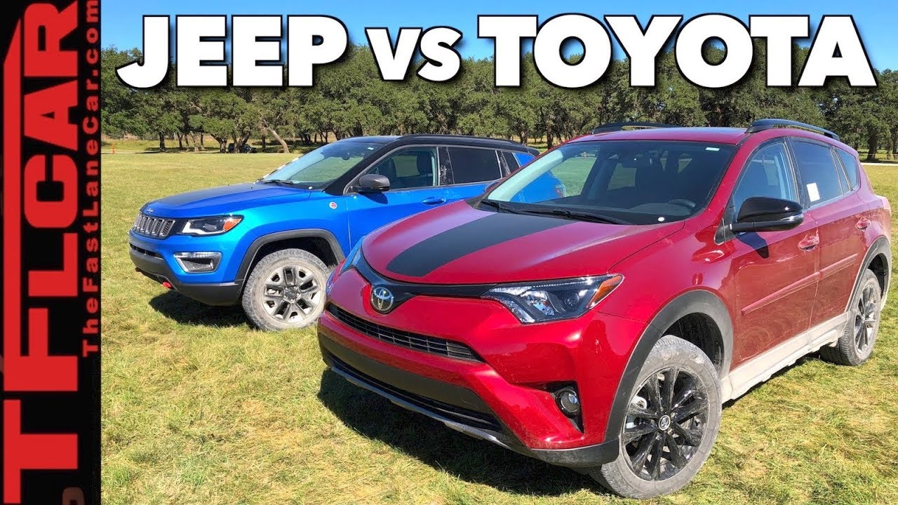 What's Better Off-Road: 2018 Jeep Compass Trailhawk vs Rav4 Adventure? - YouTube