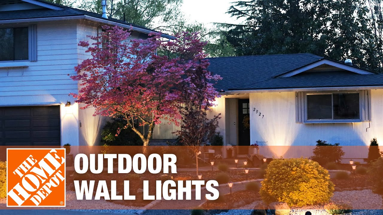 size outdoor wall lights