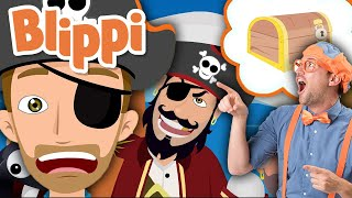 Blippi | Pirate Song + MORE ! | Learn with Blippi | Song for Kids |  Educational Videos for Kids