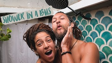 How we shower in a bus // Tiny house shower