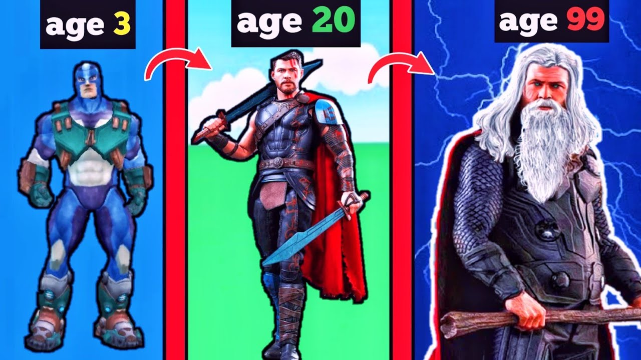 Rope Hero Age 3 To Age 99 Became thor | Rope Hero Vice Town