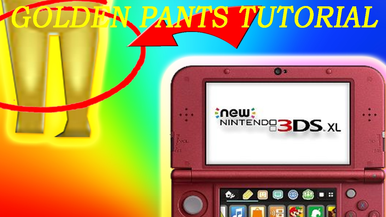 How TO GET GOLDEN PANTS ON MII (WORKS ON ALL 3DS)
