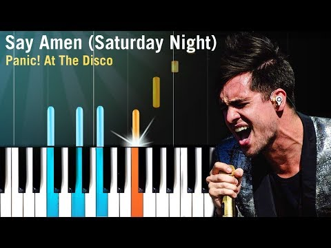 "Panic! At The Disco - ""Say Amen (Saturday Night)"" Piano Tutorial - Chords - How To Play - Cover"