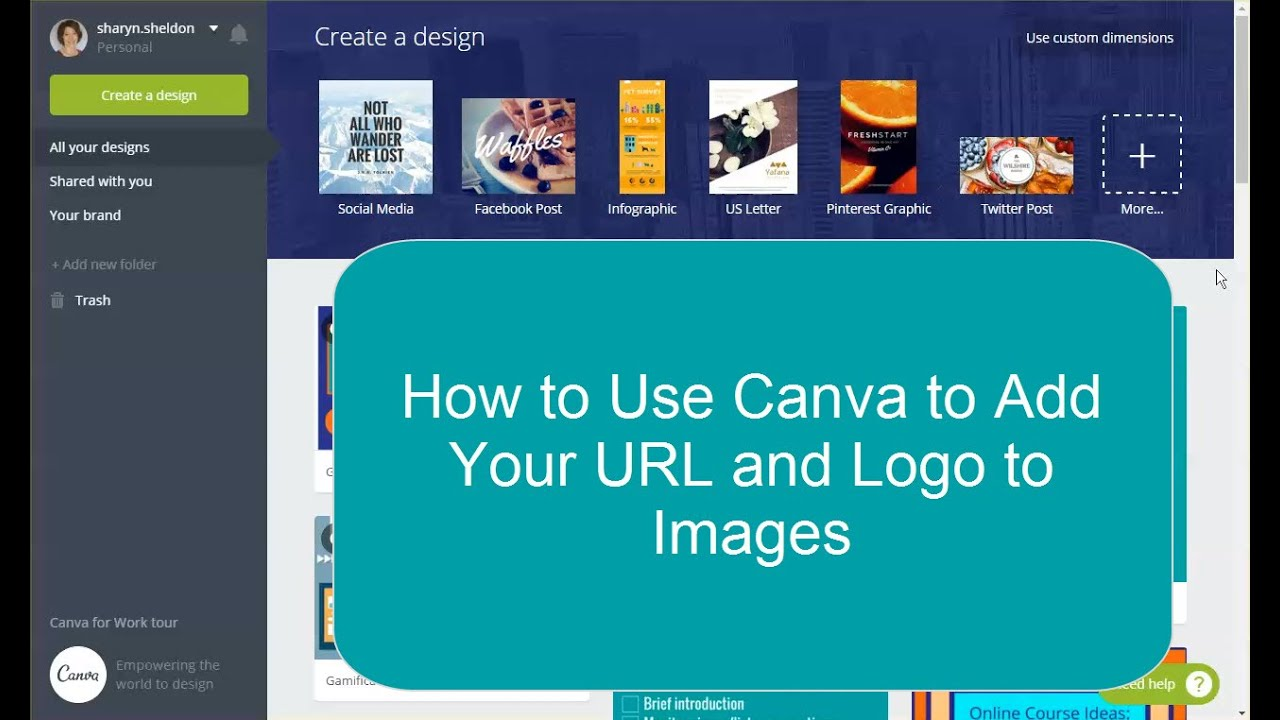 How to Use Canva to Add Your Logo and URL to an Image