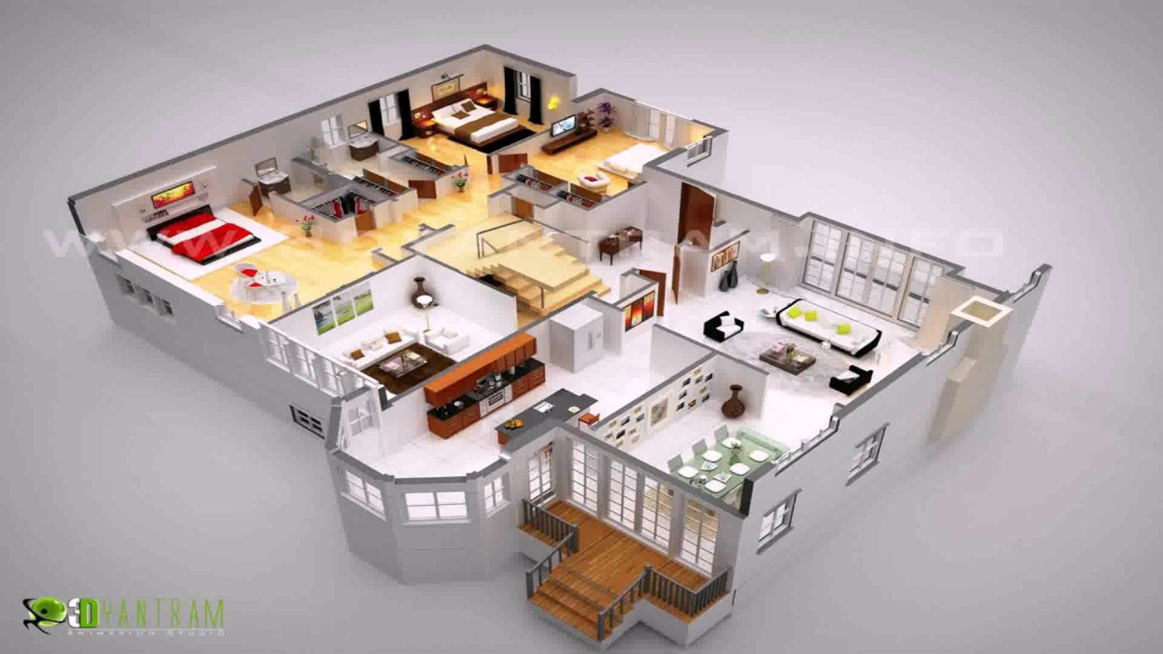 Convert pdf floor plan to 3d youtube for Turn floor plan into 3d model