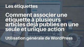 WordPress comment associer une étiquette à plusieurs articles déjà publiés