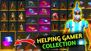 MY FREE FIRE VAULT & COLLECTION TOUR|HELPING GAMER COLLECTION VIDEO!