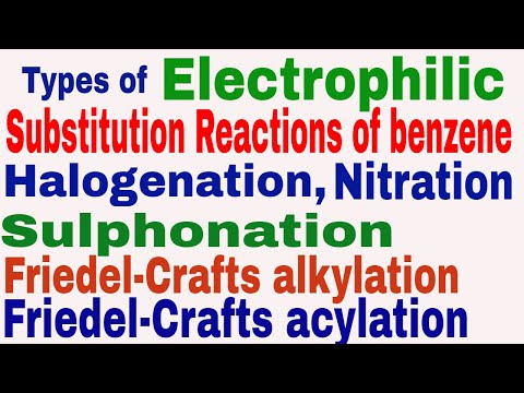 Types of Electrophilic Substitution Reactions of benzene || Halogenation || Nitration || Part-3