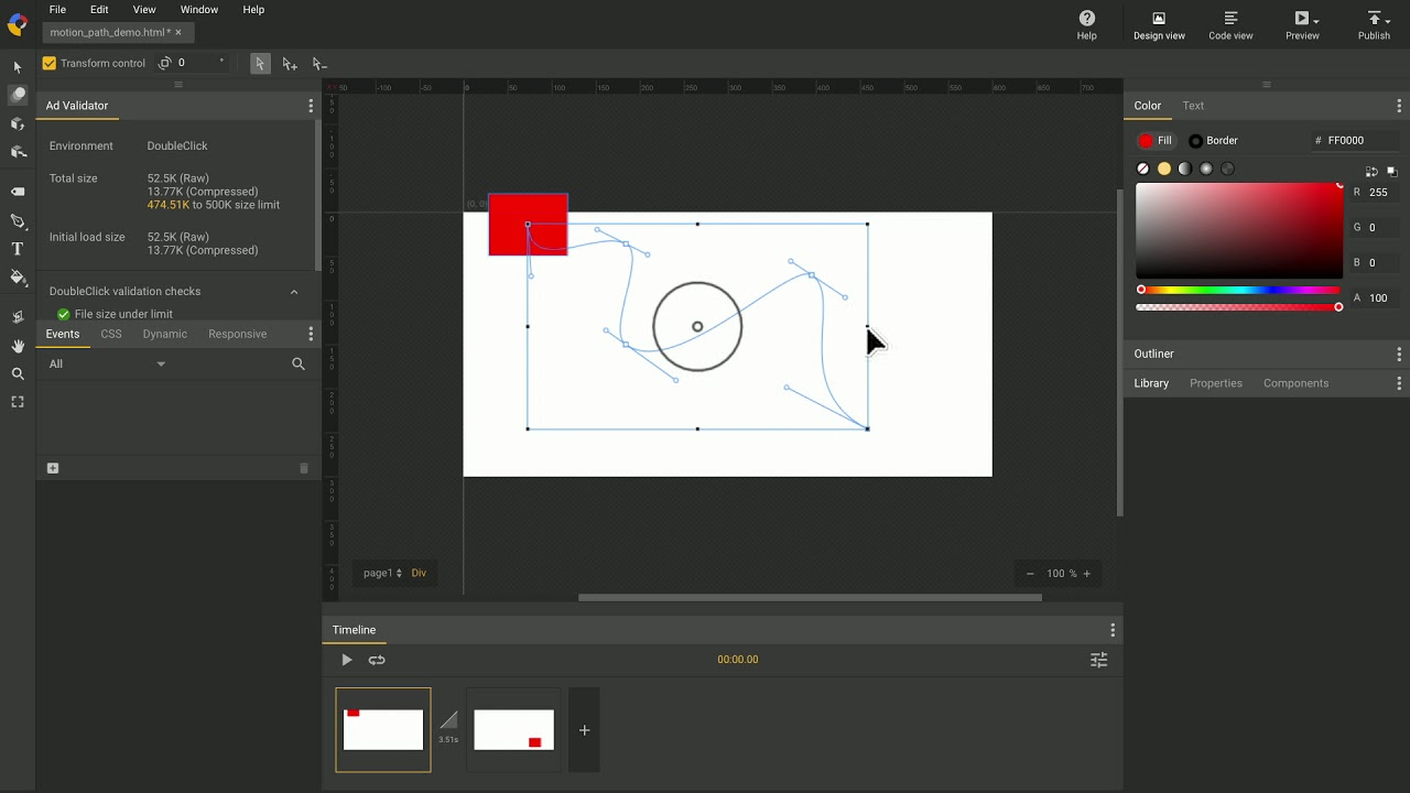 Motion Path Editing Google Web Designer Youtube