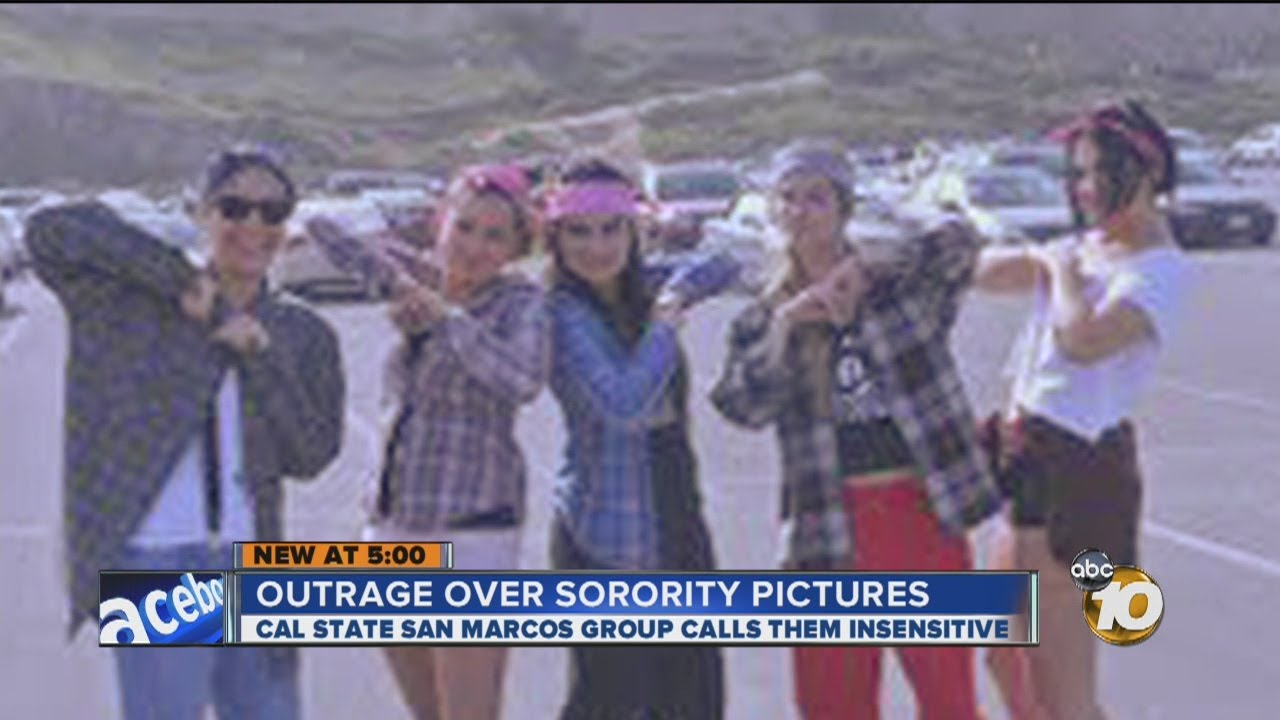 Csu San Marcos >> Outrage At Csu San Marcos Over What Some Call Are Racially Offensive Photos Taken By Sorority