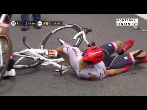 Contador Crashes - Stage 12 TdF2017