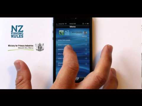 NZ Fishing Rules Smartphone App | Ministry For Primary Industries