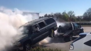 Dude Messed Up His Truck Trying To Beat The Repo Man