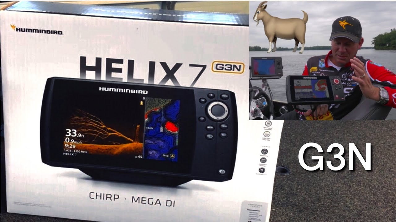 Humminbird Helix 7 Chirp mdi gps G3N Unboxing
