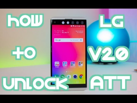 How to Unlock LG V20 (H910 and H990T) from AT&T by Unlock Code