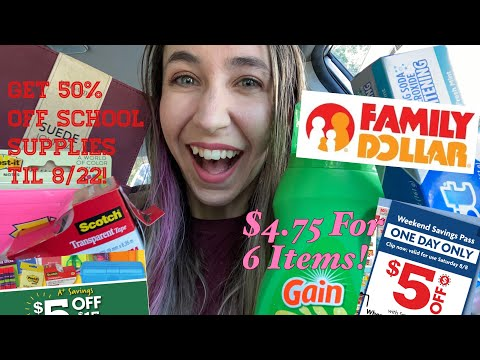 FAMILY DOLLAR $5 OFF $25 | JUST $4.85! PLUS HOW TO SAVE 50% ON SCHOOL SUPPLIES!