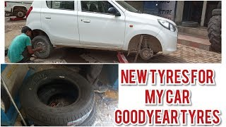New tyres for my Car | Goodyear Tyre | DIY:  KNOW YOUR CAR
