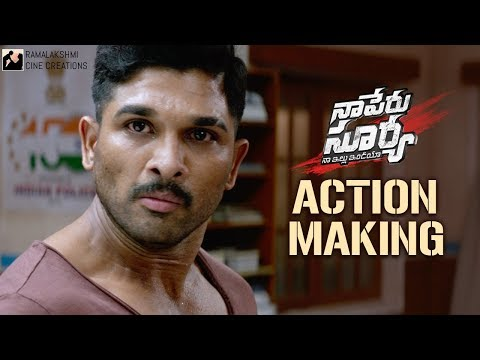 Naa Peru Surya Naa Illu India Action Making | Allu Arjun | Anu Emmanuel | #NSNIActionMaking