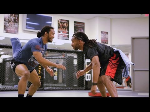 Fight Night Boston: Bendo Training with Cardinal Larry Fitzgerald