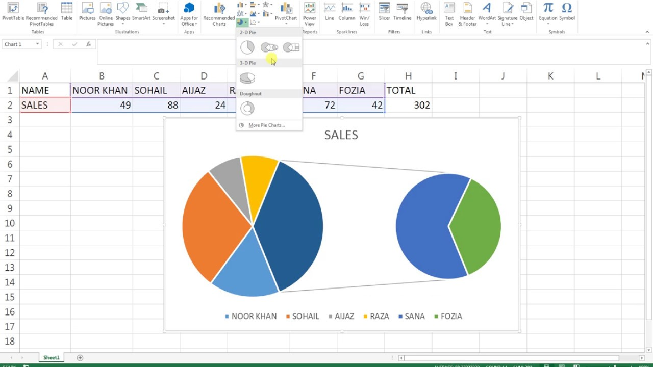 28 Pie Of Pie Chart On Excel 2013 How To Creat Youtube