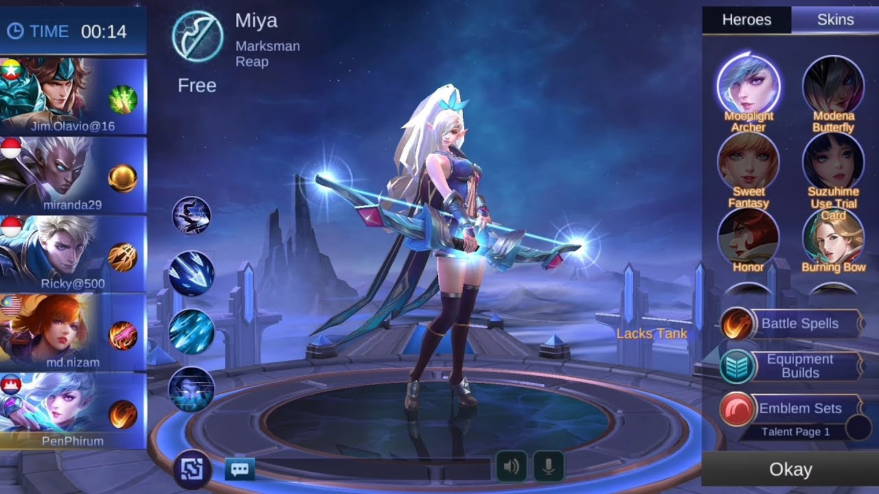 Learn To Play With Skill Hero Miya - Mobile Legends
