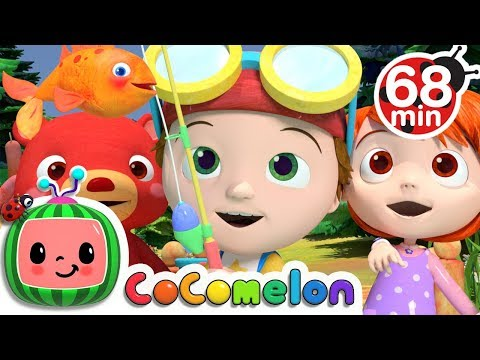 12345 Once I Caught a Fish A  +More Nursery Rhymes & Kids Songs  Cocomelon ABCkidTV