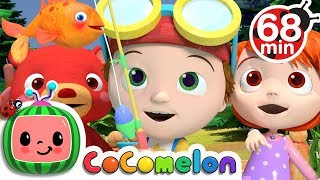 12345 Once I Caught A Fish Alive More Nursery Rhymes Kids Songs CoCoMelon